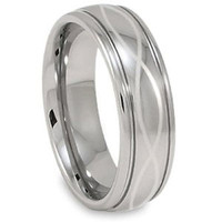 Infinity Laser Men's Tungsten Wedding Bands Ring Size 4-18