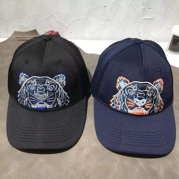 ESBONS Kenzo' All-match Casual Unisex Tiger Head Letter Embroidery Flat Cap Baseball Cap Couple Sun Hat