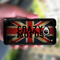 HTC one S case,UK flag,crazy mofos,HTC one X case,htc one M7 ,Htc one case,case edge in white or black plastic,the image color never change