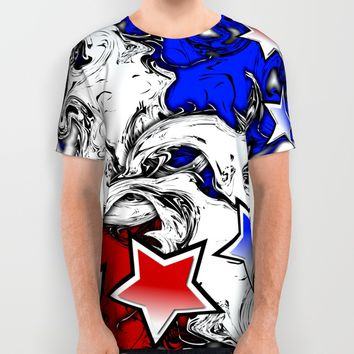 AMERICAN All Over Print Shirt by Robleedesigns