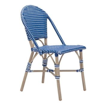 Paris Dining Chair Navy Blue&White S/2