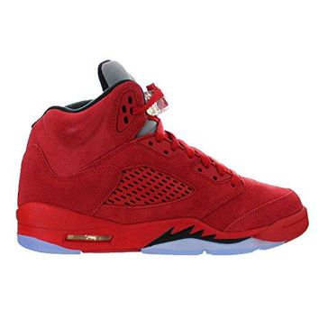 AIR JORDAN 5 RETRO BG (GS) 'RED SUEDE' - 440888-602  jordans retro