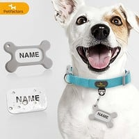 Petfactors Adjustable Dog Collar with Personalized Tags, Custom Pets Collar DIY Name & Phone Number with Superior Material Durable & Comfy 10 Patterns
