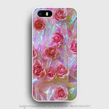 NOT holographic Tumblr Flower iPhone 5s Case, iPhone 5 Cases