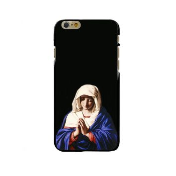 Retro Vintage Art Case For Apple iPhone 8 7 6 6S Plus X 5 5S SE Phone Cases Soft Silicone Capa Virgin Maria Pray Cover