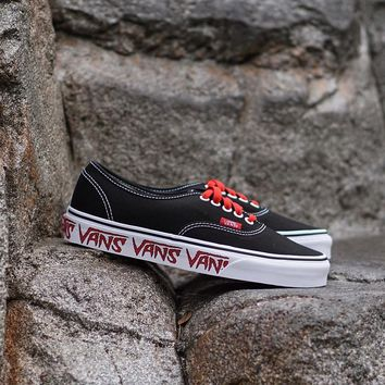 kuyou Vans Authentic  Sketch Sidewall  Black