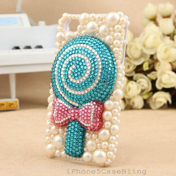 iPhone 5C case, iPhone 5 Case, iPhone 4 Case, iPhone 5 bling Case, Bling iphone 4 case, 3D iphone 5 case, Cute iphone 5C case Lollipop