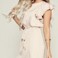 Tianna Ruffle Dress (Blush)