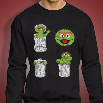 Oscar The Grouch Men'S Sweatshirt
