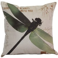 Dragonfly Pillow Cushion