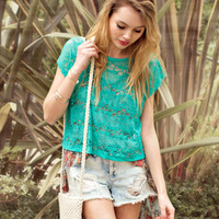 Sheer Lace Top | FOREVER21 - 2000037504