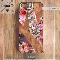 iPhone 5 Case Wood Print, iPhone 5 Case, Floral iPhone Case, Silicone Rubber Case, Plastic iPhone Case, iPhone 4S Case - Wood Print Case