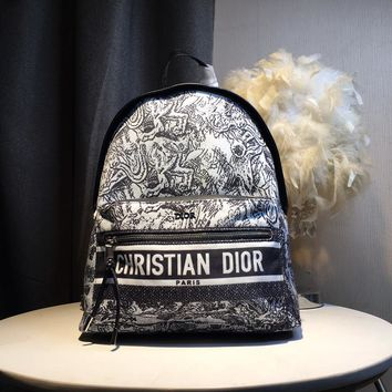 Kuyou Gb59819 Dior Backpack In Dior Oblique Canvas With Totem Print 30x 15x42cm