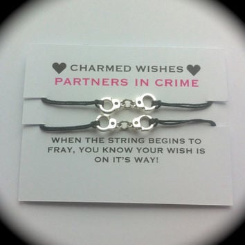Partners in crime Bracelets | Best friends bracelets | Wish bracelet | BFF jewellery | BFF gifts | Friendship bracelet | Handcuff bracelet