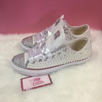 Couture Pearl and Crystals Wedding/Prom Custom Converse