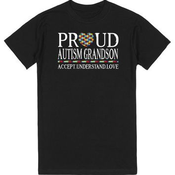 Proud Autism Grandson Autism Awareness | T-Shirt | SKREENED