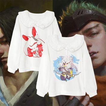 Overwatch Genji Hanzo Kawaii Style Butterfly Collar Sweater