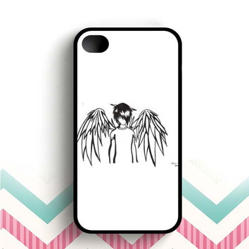 emo angel by linkesammy  iPhone 4 and 4s case
