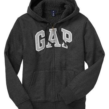 Gap Men Factory Sherpa Zip Hoodie