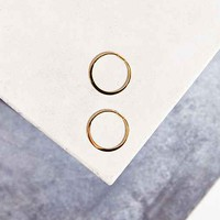 Adina Reyter Small Circle Hoop Earring-