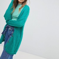 ASOS Cardigan In Fluffy Open Knit at asos.com