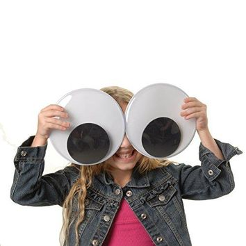 "Pack of 2 Huge XXL 7"" Wiggly Googly Eyes"