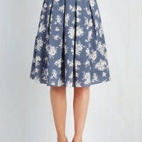 50s Long Tea Date Skirt
