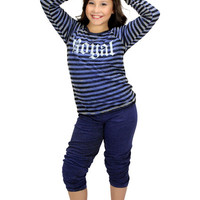 Dirtee Hollywood Cozy Sweats With Striped Band | Mod Angel