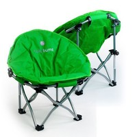 Lucky Bums Moon Camp Indoor Outdoor Comfort Lightweight Durable Chair with Carrying Case, Small, Green