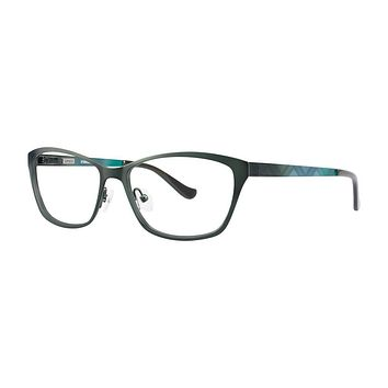 Kensie - Iridescent 52mm Forest Green Eyeglasses / Demo Lenses