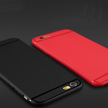 ITEUU 6S Plus Ultra-Thin TPU Matte Case for iphone 6 Plus Cases Polishing line Silicone Soft Back Cover Shell for iphone 6S Plus