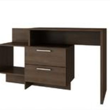 Accentuations by Manhattan Comfort Teramo Home Desk  with 1 Shelves in Tobacco