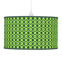 Yellow Blue and Green Pattern Colorful Retro Ceiling Lamp