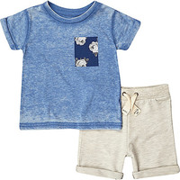 Mini boys grey shorts and t-shirt outfit - baby boys outfits - mini boys - boys