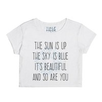 Sun is up, sky is blue-Unisex Snow T-Shirt
