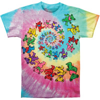 Grateful Dead Men's  Spiral Bears Tie Dye T-shirt Multi Rockabilia