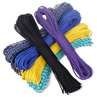 159 colors Woodland camo Parachute Cord Paracord 550 7 core Strand 100FT camping tent rope Climbing survival equipment