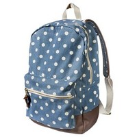 Mossimo Supply Co. Denim Polka Dot Backpack - Blue