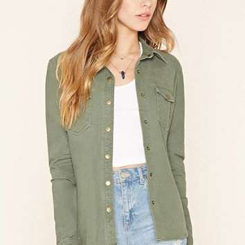 Snap-Button Cotton Jacket