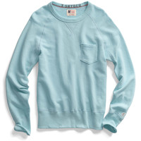Vintage Aqua Pocket Sweatshirt