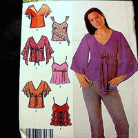 Simplicity Blouse Pattern Misses 6 Party Evening size 12 14 16 18 UNCUT Easy to Sew
