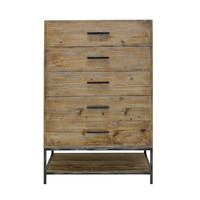 Angora Style Reclaimed 5 Drawer Dresser