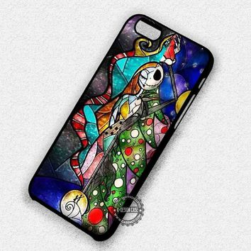 Stained Glass Couple Jack Sally Nightmare Before Christmas - iPhone 7 6 Plus 5c 5s SE Cases & Covers