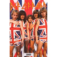 Def Leppard Band Poster 22x34