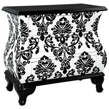 Pulaski SoHo Hand Painted 3-Drawer Bomber Accent Chest