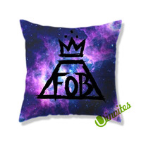 Fall Out Boy Black Logo Galaxy Square Pillow Cover