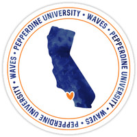 'Pepperdine University - Style 4 Version 1' Sticker by kayceecolleges