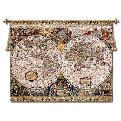 Fine Art Tapestries Antique Map Geographica Wall Hanging