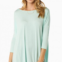 """PIKO """"Everything"""" Long Sleeve Tunic - Mint"""