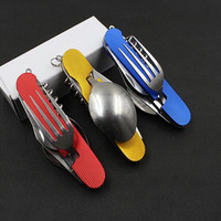 Multitool Pocket Camping Folding Knife and utensil